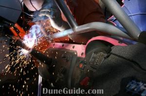 Welding a steering shaft