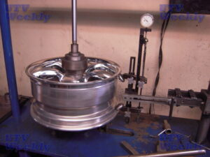 Setting center section in and then calibrating to make sure wheel is exactly round