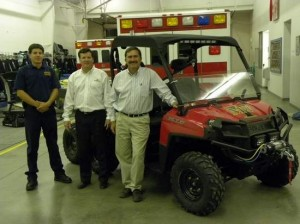 Fire Department obtains UTV to help with response to hard-to-reach locations