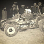 "The original ""Bully Fighter"" dune buggy driven by Andy DeVercelly Jr. and Tom McClelland at the 1968 NORRA Mexican 1000"