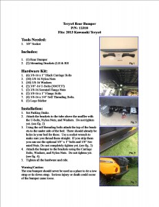 12310 tery4 bumper instructions