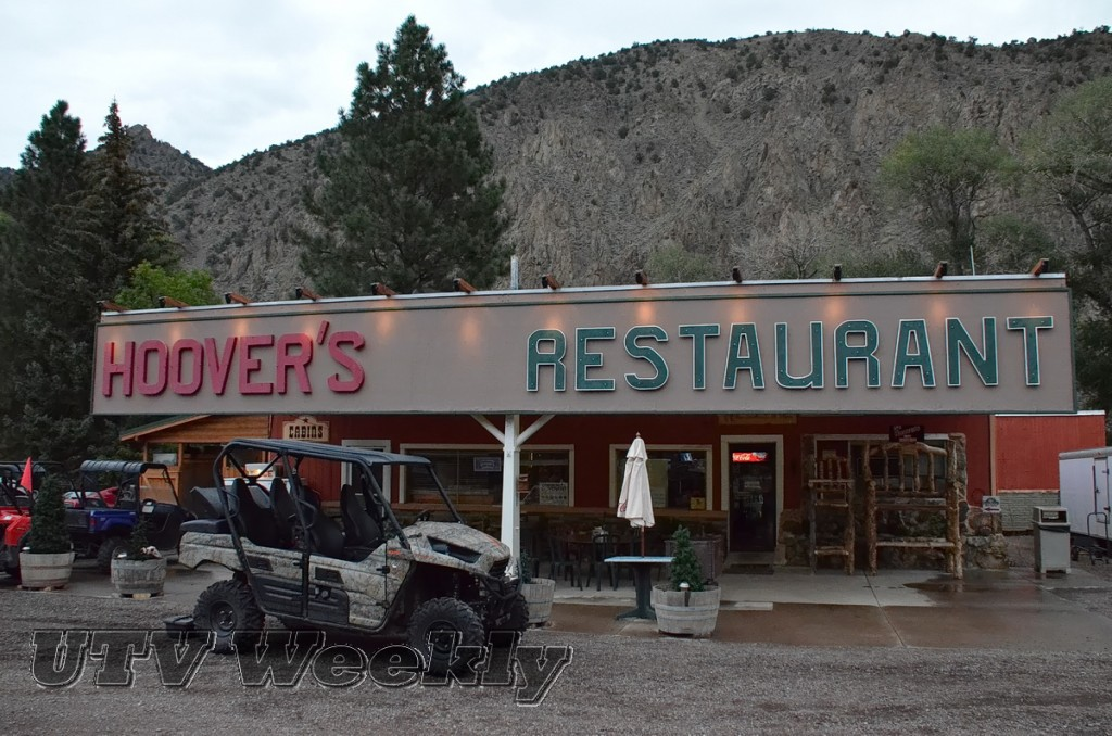 Teryx4 in front of Hoovers Resort