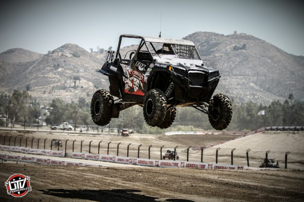 Driving his No. 716 Polaris, ITP racer Cody Rahders won the Walker Evans RZR class at round three of LORORS in Southern California. (Photo by Shilynn Milligan :: UTVUnderground.com)