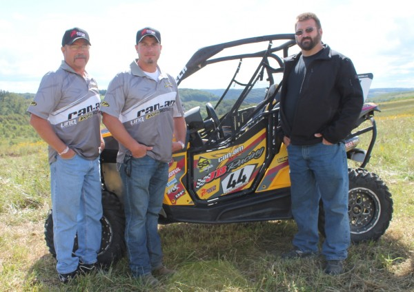 (From left) Larry Hendershot Sr., Larry Jr., and JB Racing owner Jody Bateman won two side-by-side class titles together this year with their JB Off-Road / Hendershot Performance-backed Can-Am Maverick 1000R X rs. (Photo supplied by Hendershot Performance)